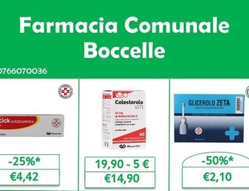 """CSP INFORMA: LE OFFERTE DELLA FARMACIA """"BOCCELLE"""""""